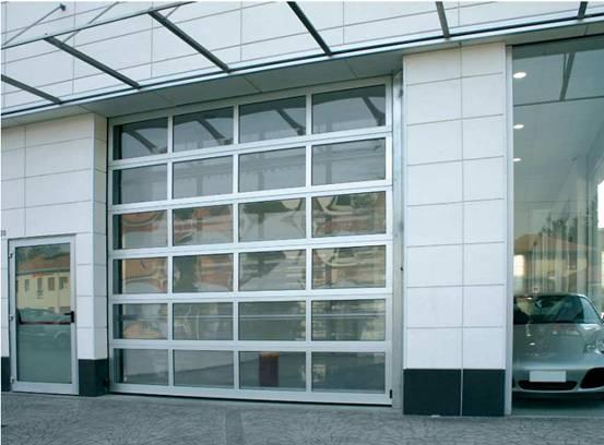 Aluminum Transparent sectional Door